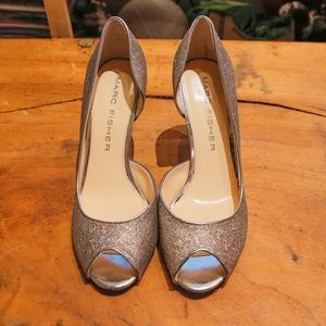 Marc Fisher Glitter Heels Size 9